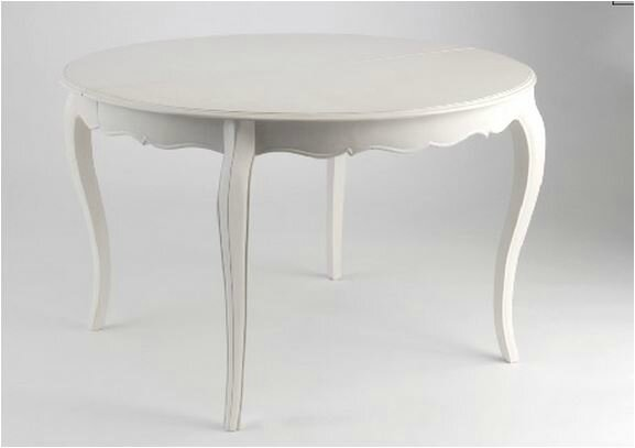 table ovale blanche