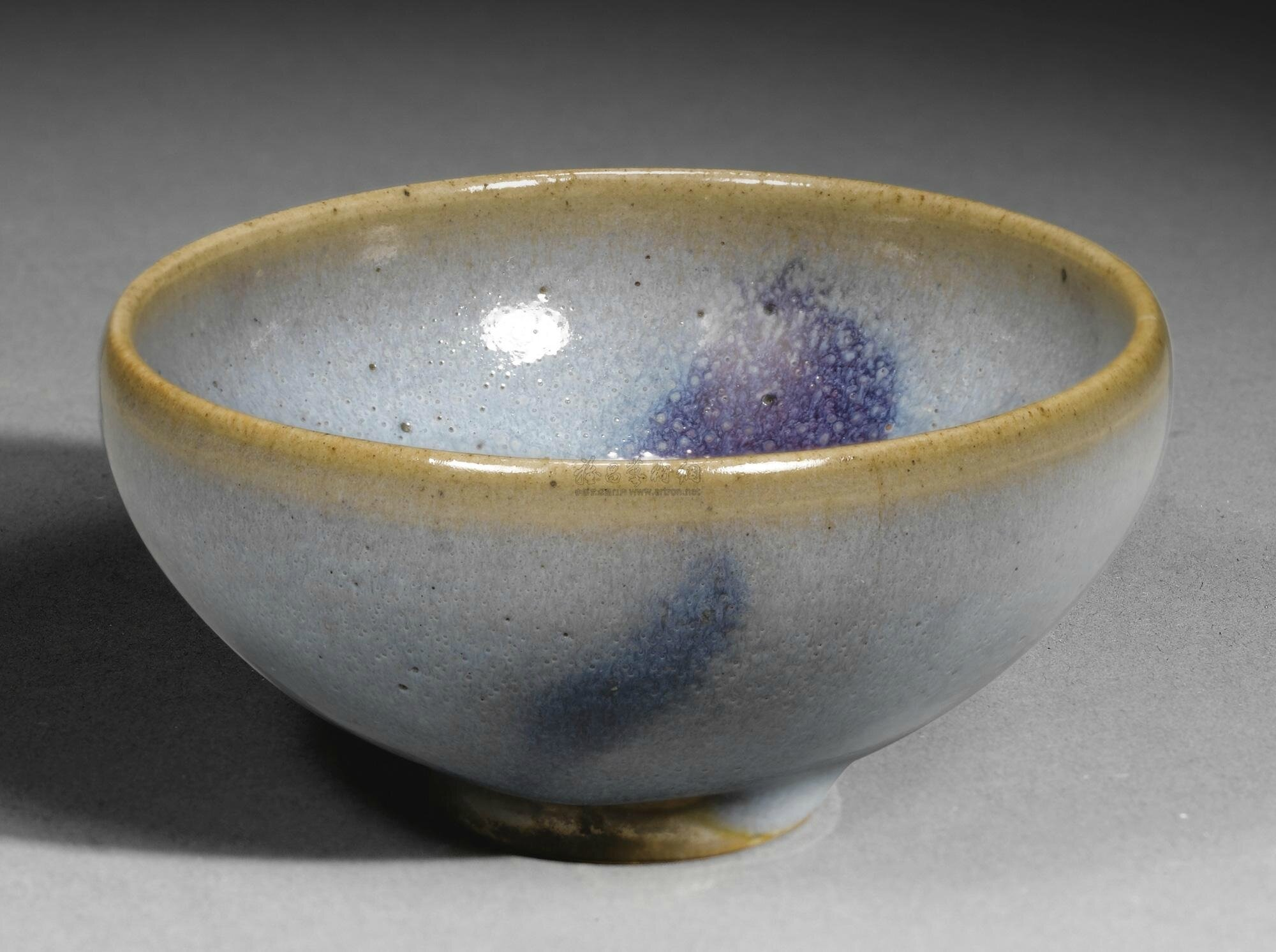 A purple-splashed 'Jun' 'bubble' bowl, Song dynasty