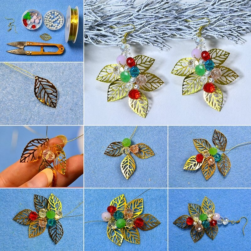 1080-Colorful-Leaves-Charms-Earrings