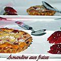 Amandine aux fraises + partenaire
