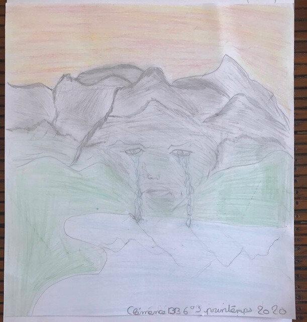 Niobé qui devint roche et pleura ses torrents ! Illustrations de mes 6e pour l'Ovide...