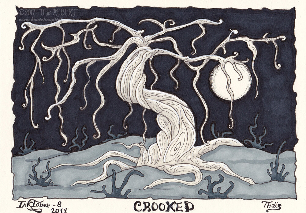 Inktober 08-crooked