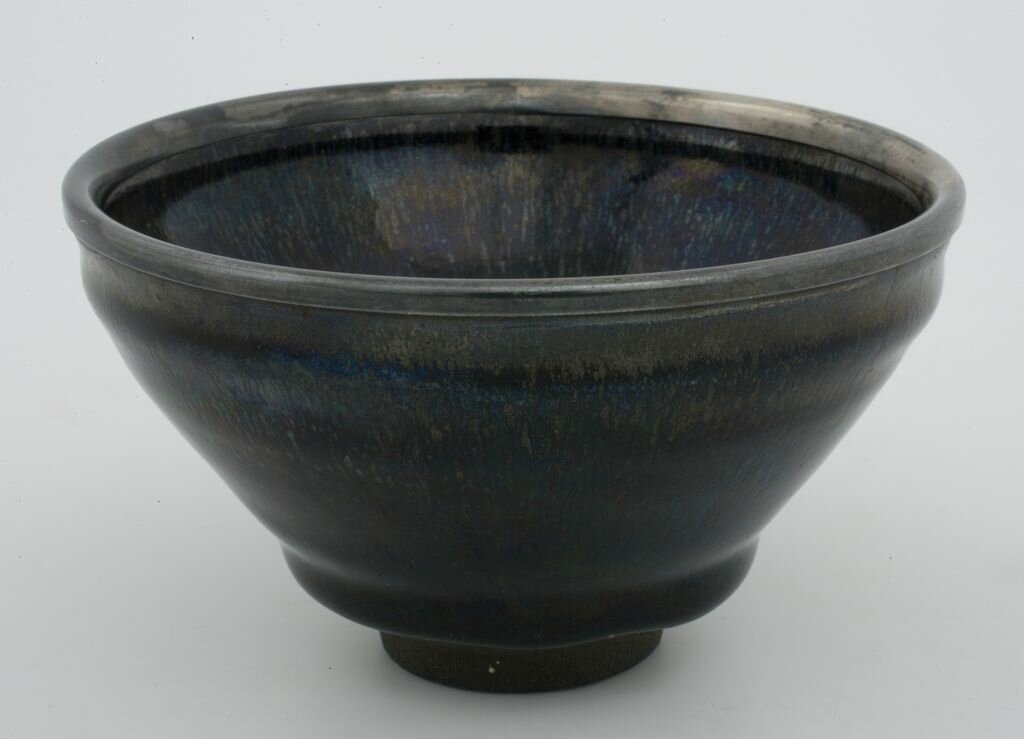 Tea Bowl with Indented Lip and Subtle Hare's-Fur Markings, Southern Song period, 13th century