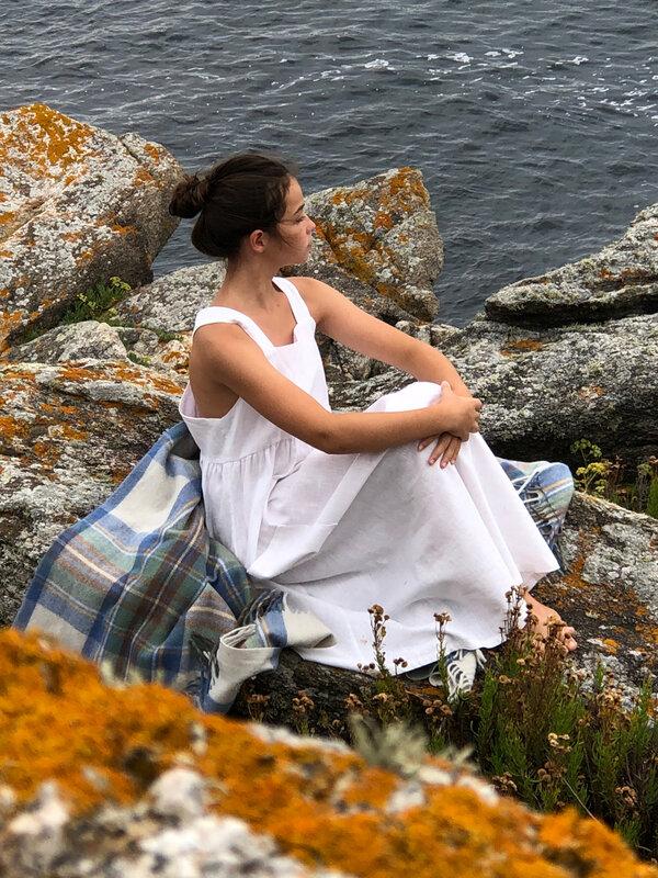 Robe Toscane-Grace, lin ivoire
