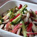 Ma petite salade croquante:concombre, radis, algues