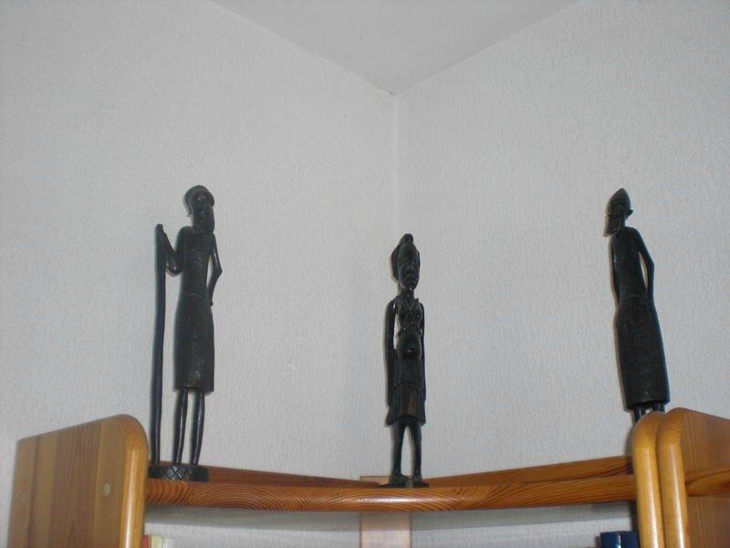 Statuettes en bois, Sénégal et Tchad