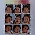 [dt mlle bulle] [scrapbooking a4] alessio: tes expressions à presque deux mois