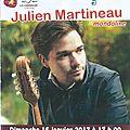 Concert du 15 janvier 2017, julien martineau mandoliniste