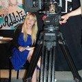 Marie-Do (scripte) et la caméra 16mm