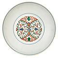 Chinese doucai glazed porcelain dish