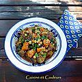 Tajine aubergines/carottes au cumin et poivre de mada