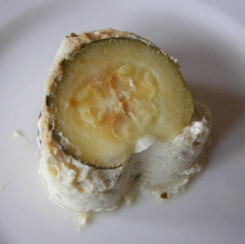 Cheesecake feta/courgettes