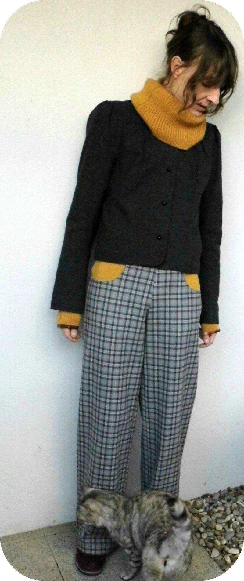 pantalon carreaux et laine Fév 14