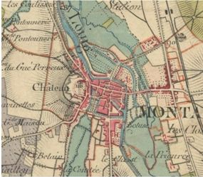 Carte_d_Etat_major_du_ch_teau_de_Montargis