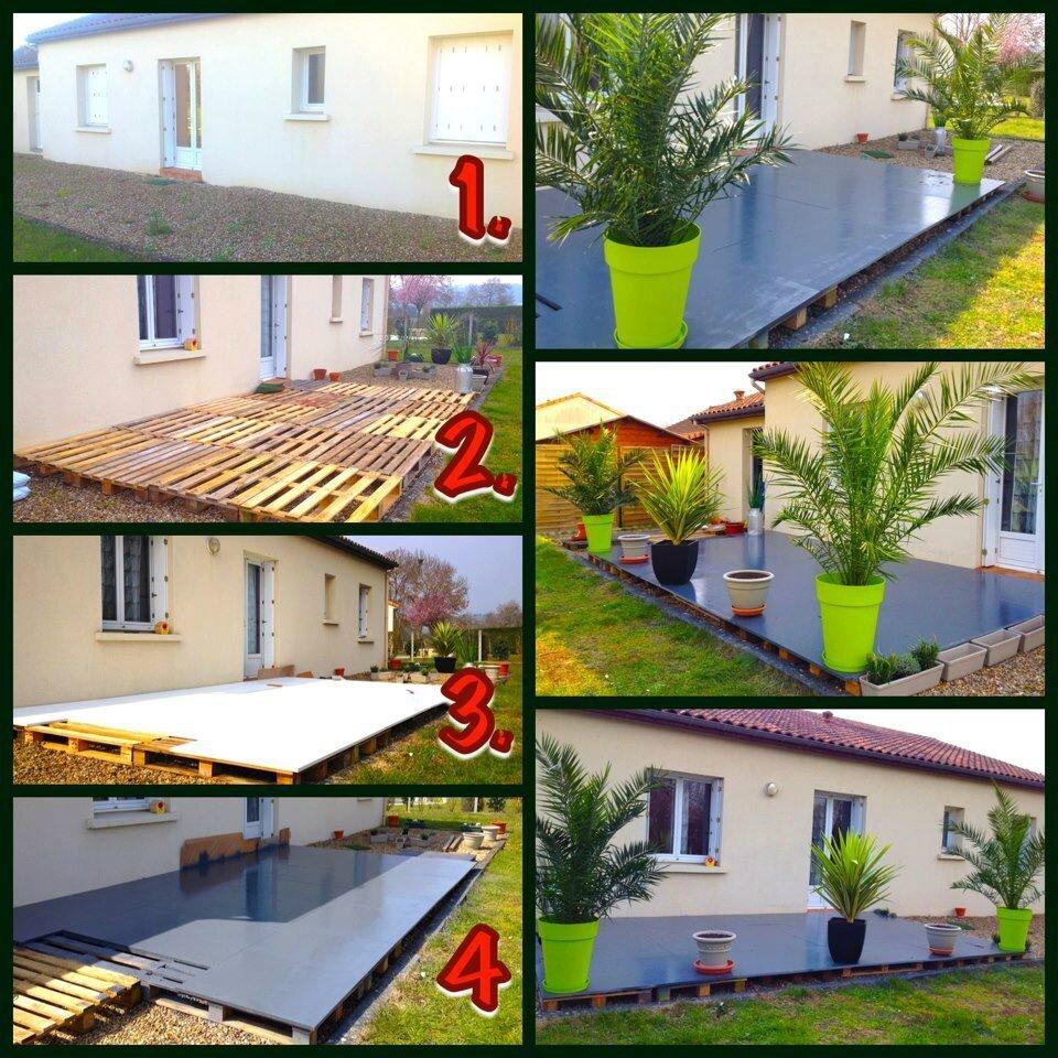 Fabriquer Terrasse En Bois Pas Cher terrasse en bois: idees deco avec des palettes