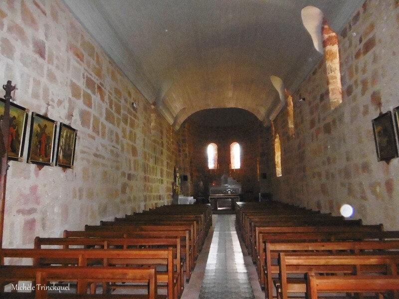 Etang d'Ous Pins et Eglise Lesgor 110918
