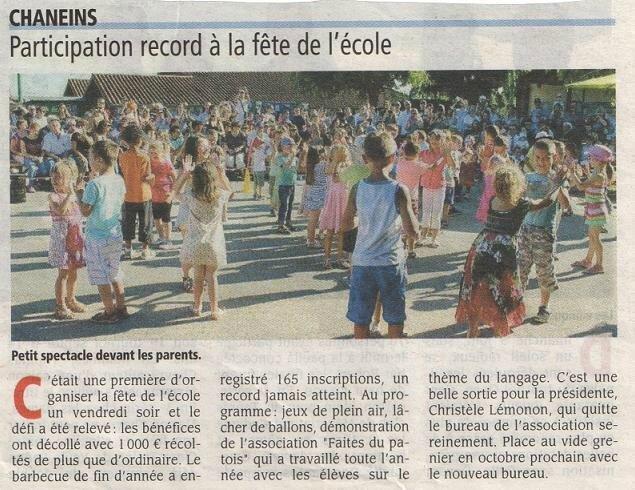 Article La Voix de l'Ain 100715