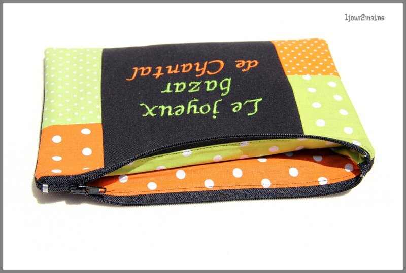 trousse chantal vert orange