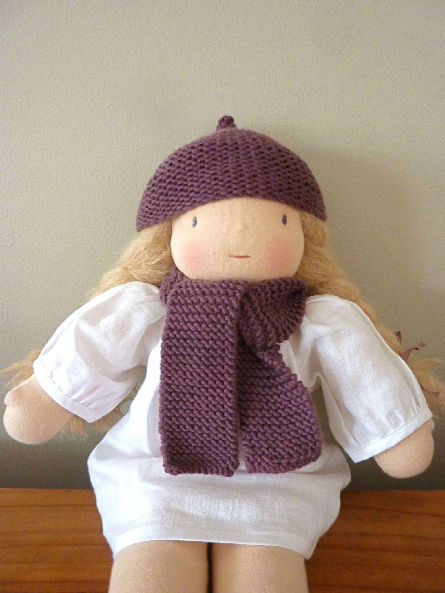 Bonnet/écharpe poupée HTSY