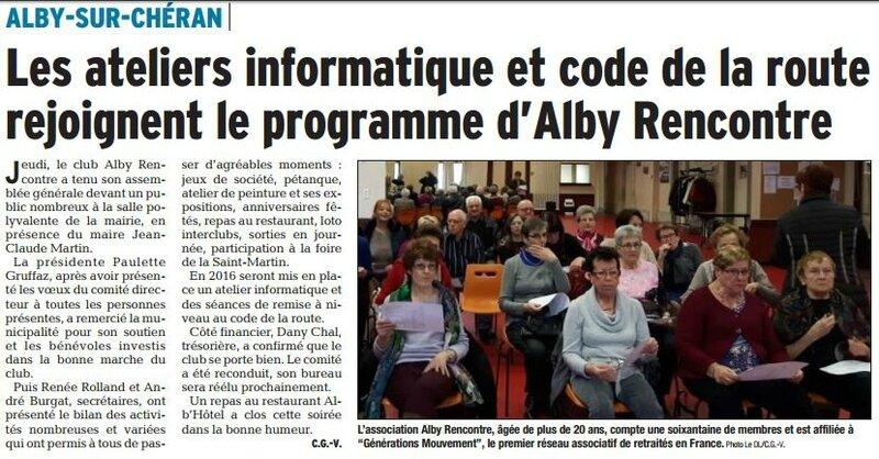 Alby rencontre AG 2016 DL