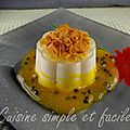 Panna cotta à la vanille et son coulis de fruits de la passion