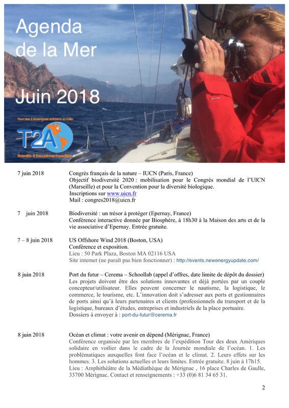 Agenda de la mer juin 2018 page 2:2