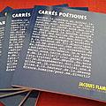 Dans carré poétique 2 (editions jacques flament), un texte de c.-l. desguin
