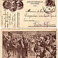 Caen, Quartier Decaen, carte-lettre Marcel Carpentier 43e RAC 62e batterie, 3e pièce, 11