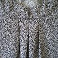 blouse noire et blanche nov