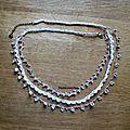Collier fil et perles