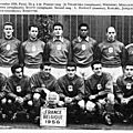 11 novembre 1956 FRANCE-BELGIQUE ... MATCH DE QUALIFICATION DE LA COUPE DU MONDE 1958