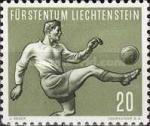 1954 Timbre Liechtenstein 20 Rp