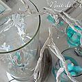 Nuit des anges décoratrice de mariage décoration de table turquoise exotique 014