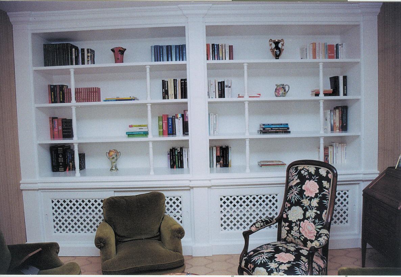 bibliothèque bois laqué3