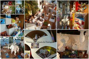 Photos mis en place vitrine enfants dialogues