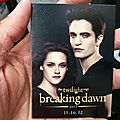 Breaking dawn part 2: goodies du comic con