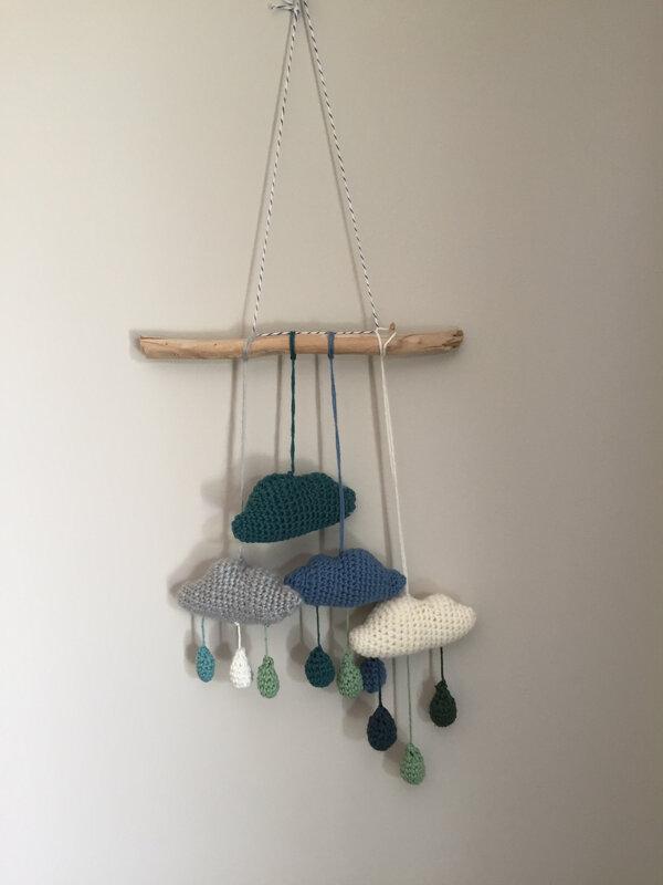 nuage, crochet, mobile