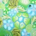 Millefiori Vert-Bleu