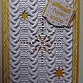 Carte tricot étoilé