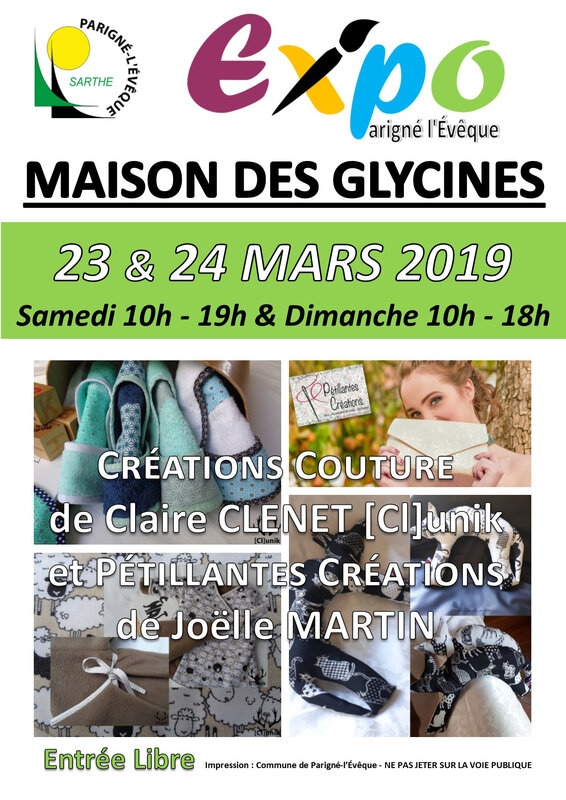 Affiche Expo Mme CLENET Mme MARTIN 2019