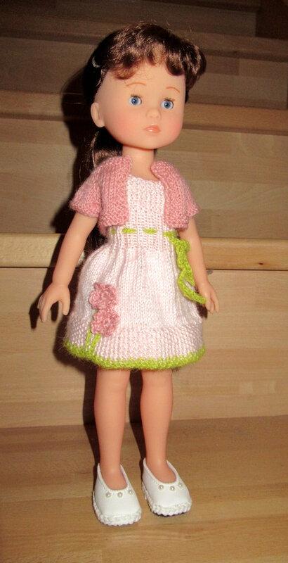 20190311 défi tricot poupées 32 cm robe de printemps 03