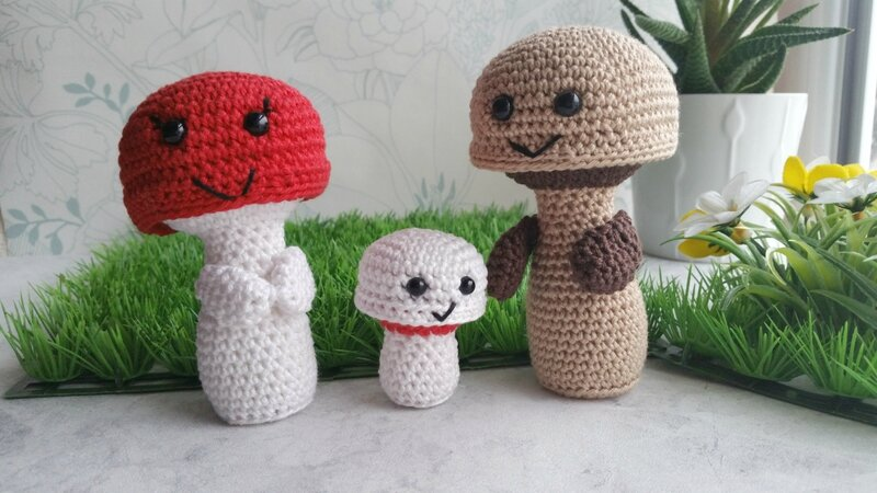 famille-champignons-frog-and-toad-créations-crochet-1