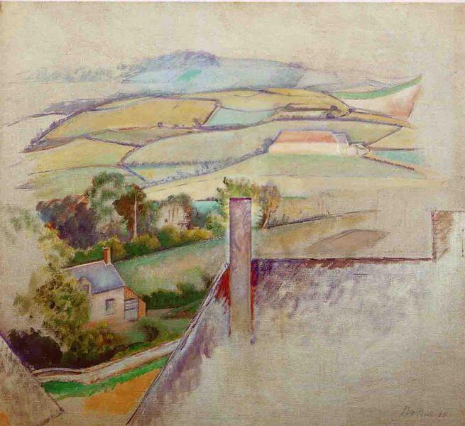 Balthus paysage Morvan