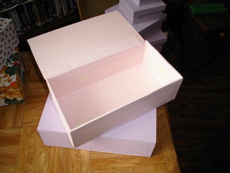 boite peinte ouverte