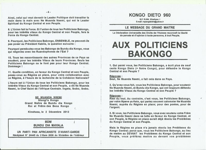 AUX POLITICIENS BAKONGO 1