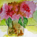 Flowers in watercolour