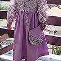 Robe simplicity 7112 3ans fleurs violettes 002