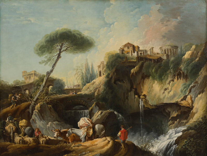 François Boucher, View of Tivoli with the Temple of Vesta