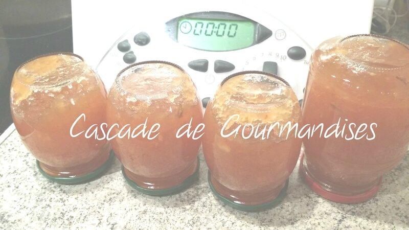 Confiture pommes noix au thermomix ou sans pot