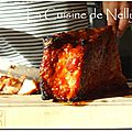 Travers de porc (ribs), sauce barbecue {recette au four}